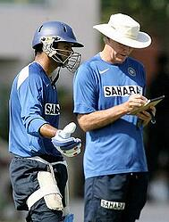 Greg Chappell and Rahul Dravid