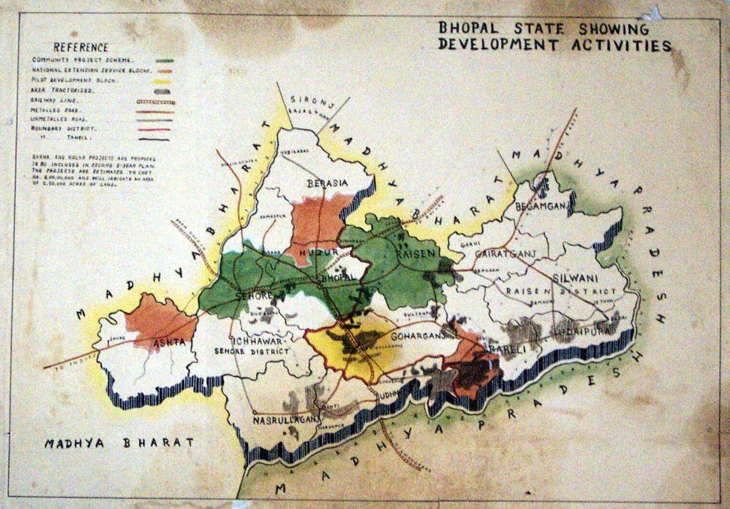 Bhopal State Map